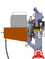 Ротационная газомазутная горелка РГМГ-1м без заглушки, патрубка, счетчика жидкого топлива VZO15RC с форсункой ротационной Р-200м